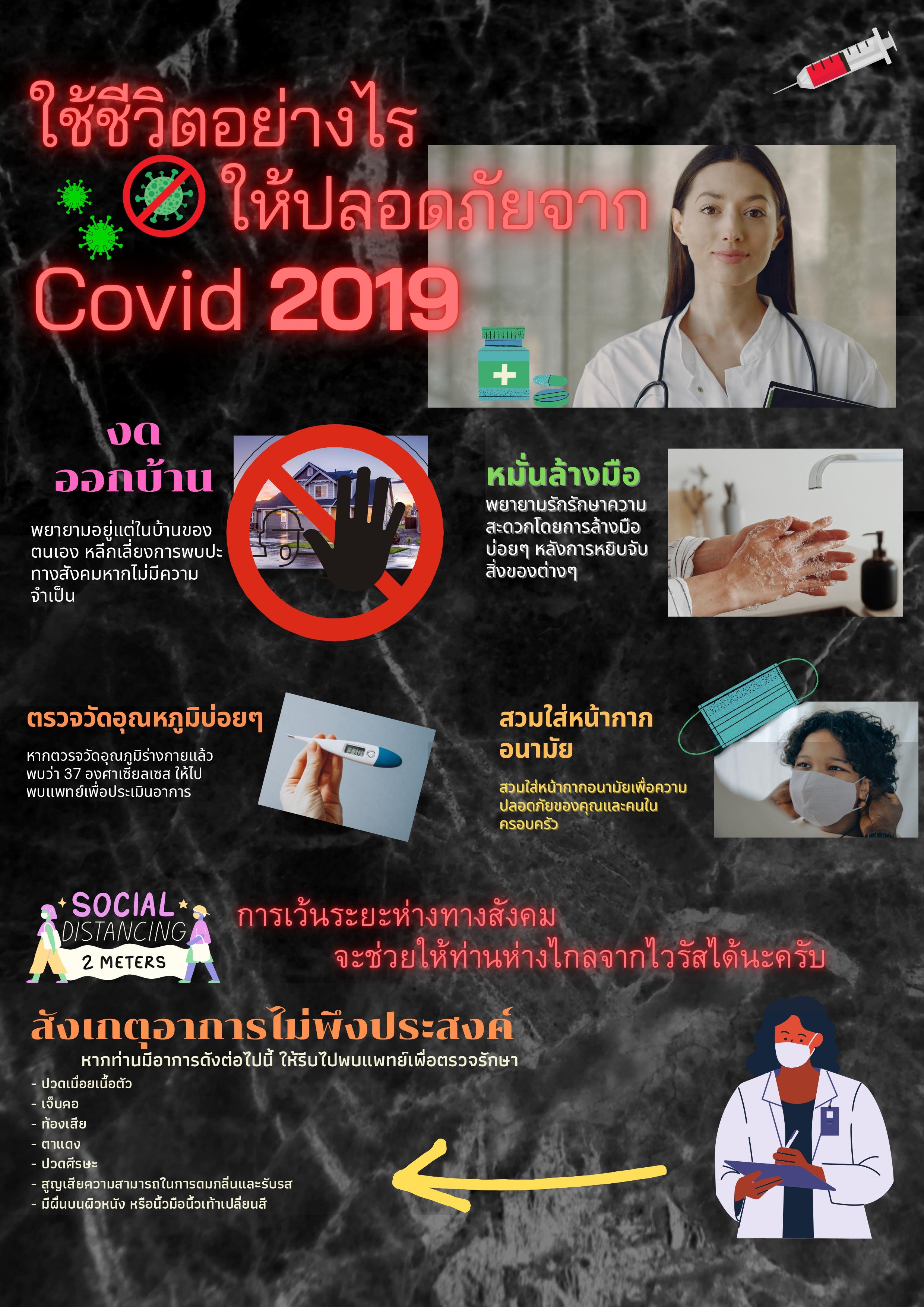 ใช้ชีวิตอย่างไร ให้ปลอดภัยจาก Covid 2019